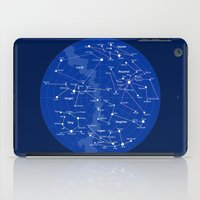 superheroes iPad Cases featuring Superheroes Constellations by tuditees