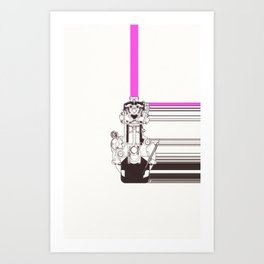 Smiling Machine Art Print