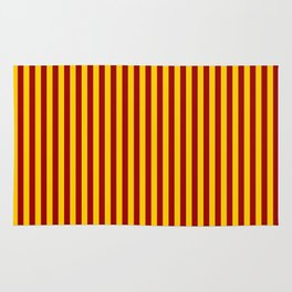 Cardinal and Gold Vertical Stripes Rug