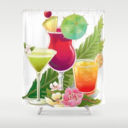Topical Drinks2 Shower Curtain