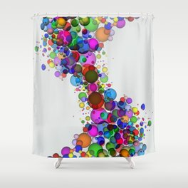 Colorful Spheres Shower Curtain