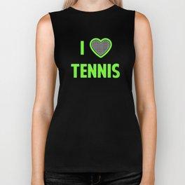 I Heart Tennis Biker Tank