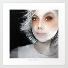 Megan Massacre Portrait Art Print