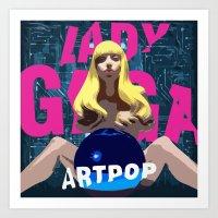 artpop Art Prints featuring ARTPOP by Marcelo BM