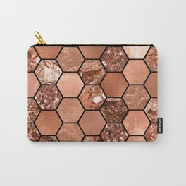 Rose gold hexaglam Carry-All Pouch