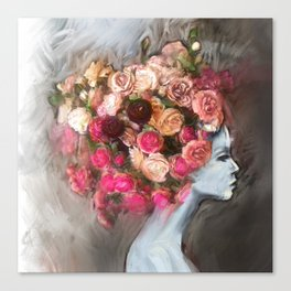 Flower Bloom Girl Canvas Print