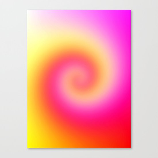 Spiral Of Color Canvas Print