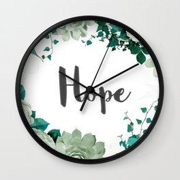 FLORAL DESIGN HOPE Wall Clock