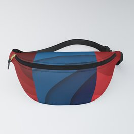 Red and blue color gradient Fanny Pack