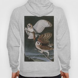 Barn Owls, the Birds of America by John James Audubon Hoody