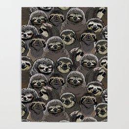 Social Sloths Poster