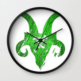 Green Horned Skaven Wall Clock