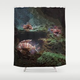 Everything's Fine on the Lion Fishway Shower Curtain