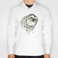 sloth Hoodies featuring Sloth by Ursula Rodgers