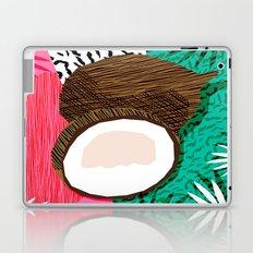 Bada Bing - memphis throwback tropical coconuts food vegan nature abstract illo neon 1980s 80s style Laptop & iPad Skin