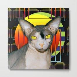 Vamp Sphynx Cat by Moonlight Metal Print