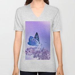 Butterfly blue 72 Unisex V-Neck