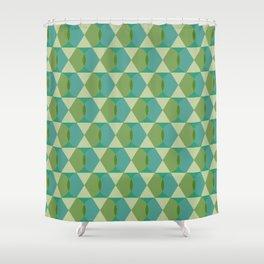 Hexagreen Shower Curtain