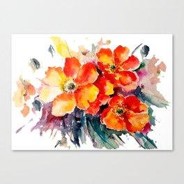 Poppies Teide Canvas Print