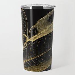 The golden leaf Travel Mug