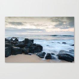 Dramatic coastline at Poipu beach in Kauai, Hawaii. Canvas Print