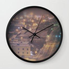 OKLAHOMA ICE NIGHT Wall Clock