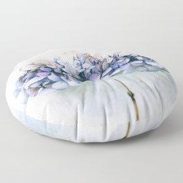 Delicate Hydrangea Floor Pillow