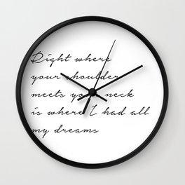 Dancing, though Wall Clock