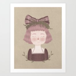 Bow Girl Art Print