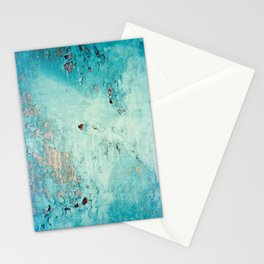 Turquoise Grunge Texture 6 Stationery Cards