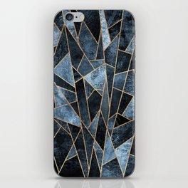 Shattered Soft Dark Blue iPhone Skin