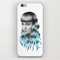 grimes iPhone & iPod Skins featuring Grimes by Nestor