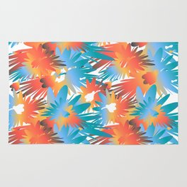 Colorful explosions Rug