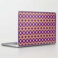70s Laptop & iPad Skins featuring 70s Purple circles by Cdill