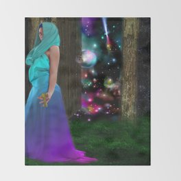 Keeper of the universe Throw Blanket