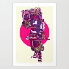 Hip-Hop Samurai Art Print