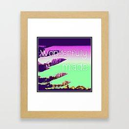 Wonderfully Made (Colourful) Framed Art Print