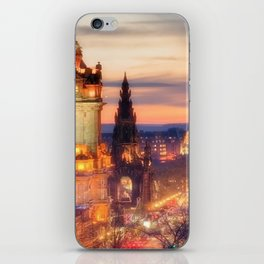 CLOCK TOWER-EDINBURGH iPhone Skin