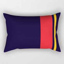 Navy Racer Rectangular Pillow