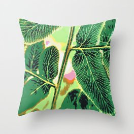party fern Throw Pillow