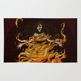 Girl on Fire Rug