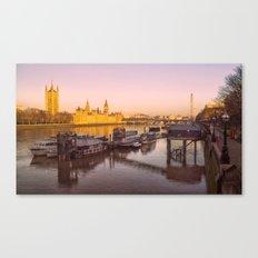 Cityscape London In Winter Canvas Print