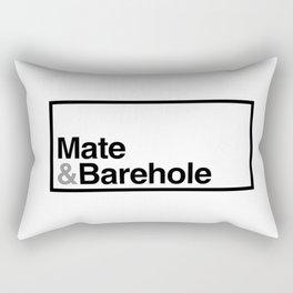 Mate & Barehole / Crate and Barrel Logo Spoof Rectangular Pillow