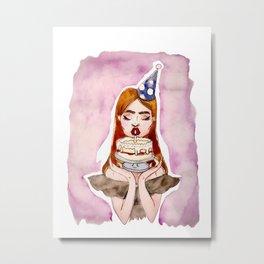 Cake Face Metal Print