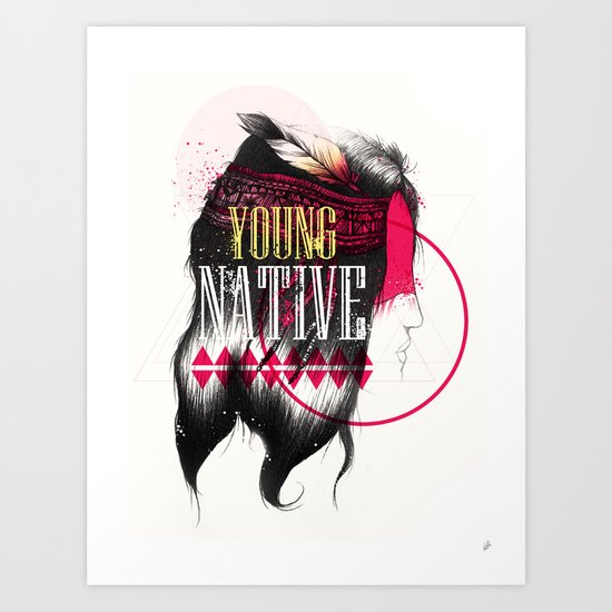 Young Native Art Print