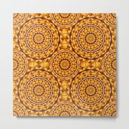 Golden mandalas pattern Metal Print