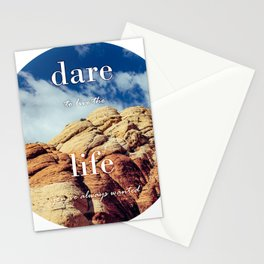 Dare To Live   Red Rocks Stationery Cards