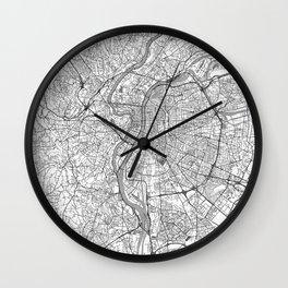 Lyon Map Line Wall Clock