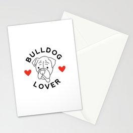 Bulldog Lover Stationery Cards