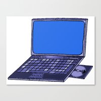 laptop Canvas Prints featuring  Laptop  by Sofia Youshi